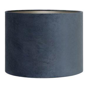 Light & Living Lampenkap 35 cm Cilinder VELOURS Dusty Blue