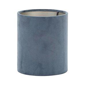 Light & Living Lampenkap 17 cm Cilinder VELOURS Dusty Blue