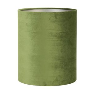 Light & Living Lampenkap 22 cm Cilinder VELOURS Olive Green