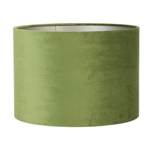 Light & Living Lampenkap 25 cm Cilinder VELOURS Olive Green