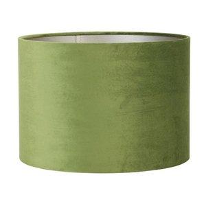Light & Living Lampenkap 40 cm Cilinder VELOURS Olive Green