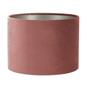 Light & Living Lampenkap 25 cm Cilinder VELOURS Dusky Pink