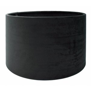 RamLux Lampenkap 30 cm Cilinder VELOURS Black