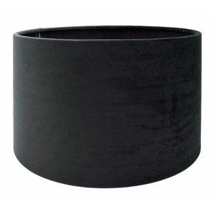 RamLux Lampenkap 35 cm Cilinder VELOURS Black