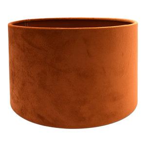 RamLux Lampenkap 15 cm Cilinder VELOURS Terra Orange