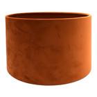 RamLux Lampenkap 40 cm Cilinder VELOURS Terra Orange
