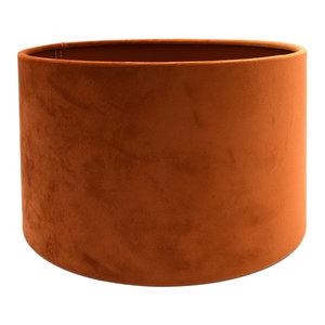 RamLux Lampenkap 45 cm Cilinder VELOURS Terra Orange