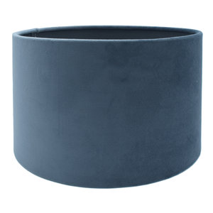 RamLux Lampenkap 50 cm Cilinder VELOURS Marine Blauw
