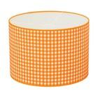 Taftan Lampenkap 35 cm Cilinder Grote Ruit 7 mm Oranje