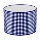 Taftan Lampenkap 35 cm Cilinder Grote Ruit 7 mm Donker Blauw