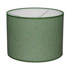 Taftan Lampenkap 35 cm Cilinder Kleine Ruit 3 mm Donker Groen