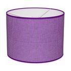 Taftan Lampenkap 35 cm Cilinder Kleine Ruit 3 mm Paars