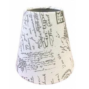Eglo Klem Lampenkap 14 cm POSTMARK Grijs op Wit