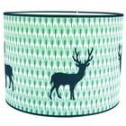 Taftan Lampenkap 35 cm Cilinder Hert Blauw