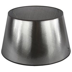 Collectione Lampenkap 25 cm Drum AZZURO Zilver