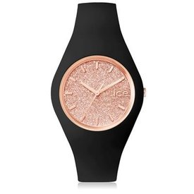 Ice Watch I W Ice Glitter -black/rose gold - medium
