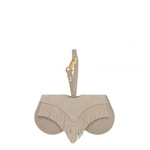 Any Di Suncover - White - taupe fringe