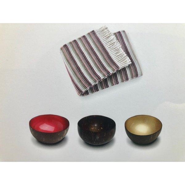 Noya 3 coconut bowls en plaid