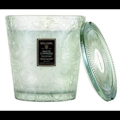 Voluspa geurkaars 3 wieken glas