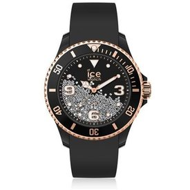 Ice Watch I W ICE crystal - Black rose-gold - Smooth - Medium - 3H