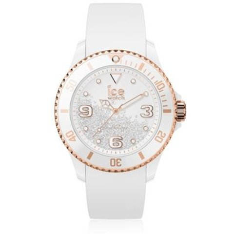 I W ICE crystal - White rose-gold - Smooth - Medium - 3H