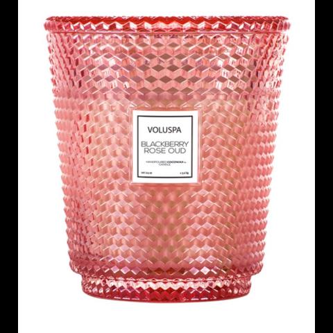 Voluspa Hearth 5 Wick Glass Candle