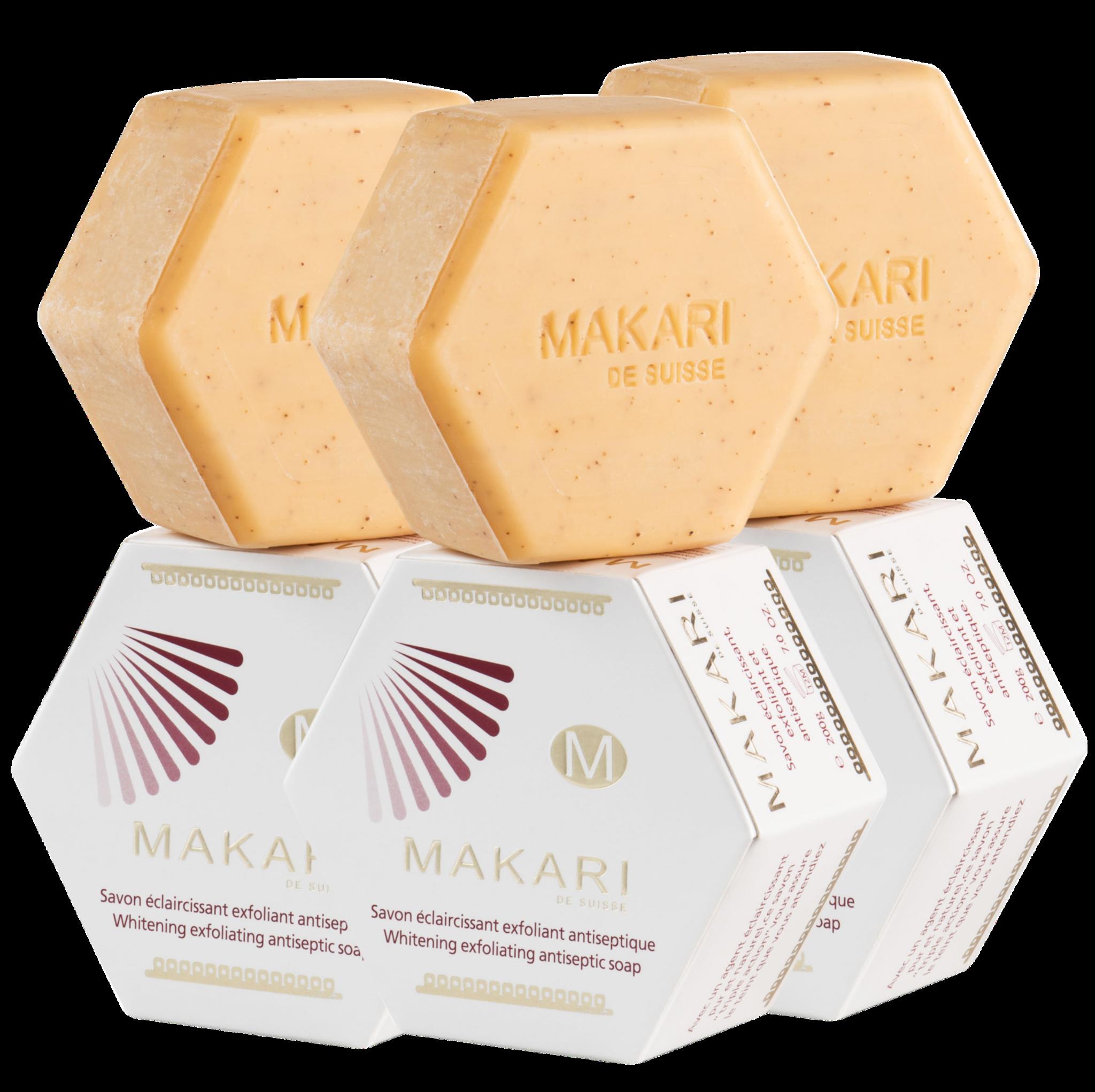 Makari Makari BRIGHTENING EXFOLIATING SOAP TRIO