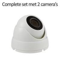 CC-CS02DC1-W - 4 kanaals CVR inclusief 2 witte CC-DC1 camera's