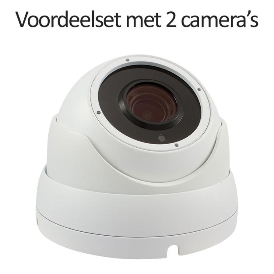 CHD-CS02DA3-W - Set met recorder en  2x CHD-DA3-W IP camera's