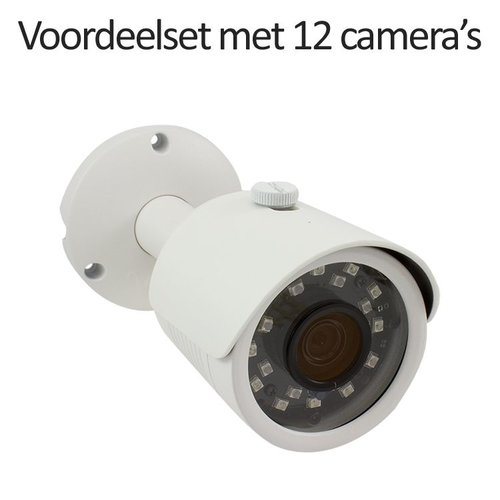 CHD-CS12B3 - 16 kanaals NVR inclusief 12 CHD-B3 IP camera's