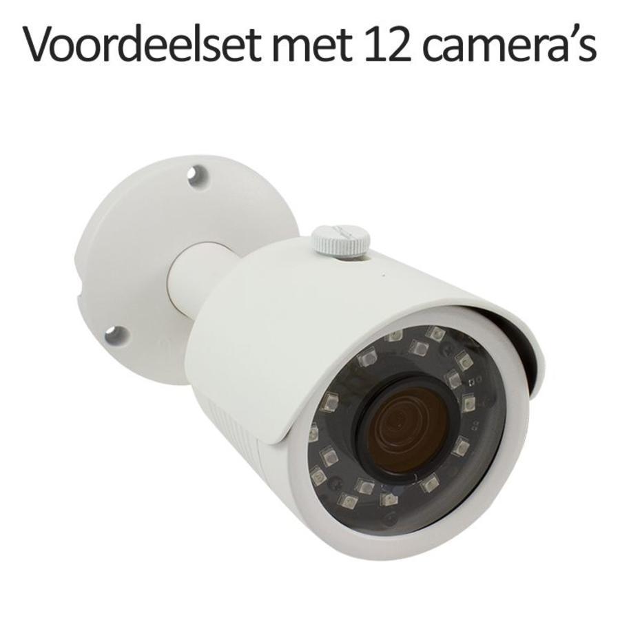 CHD-CS12B3 - 16 kanaals NVR inclusief 12 CHD-B3 IP camera's
