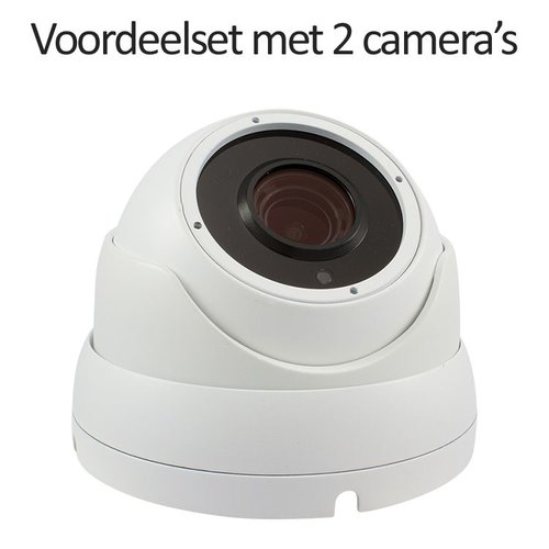 CHD-CS025MD1-W - 4 kanaals NVR inclusief 2 witte CHD-5MD1 5 MegaPixel IP camera's