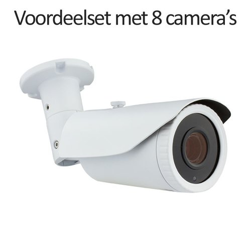 CHD-CS085MB1 - 9 kanaals NVR inclusief 8 CHD-5MB1 5 MegaPixel IP camera's