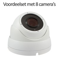 CHD-CS085MD1-W - 9 kanaals NVR inclusief 8 witte CHD-5MD1 5 MegaPixel IP camera's