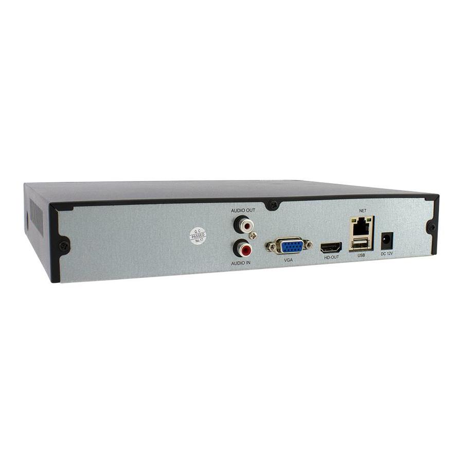 CHD-5M-NVR16 - NVR voor 16 x 5.0 MP IP camera's