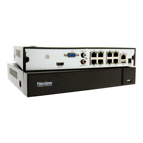 Neview CHD-5M-NVR09-P - NVR voor 9 x 5.0 MP IP camera's | 8 x PoE