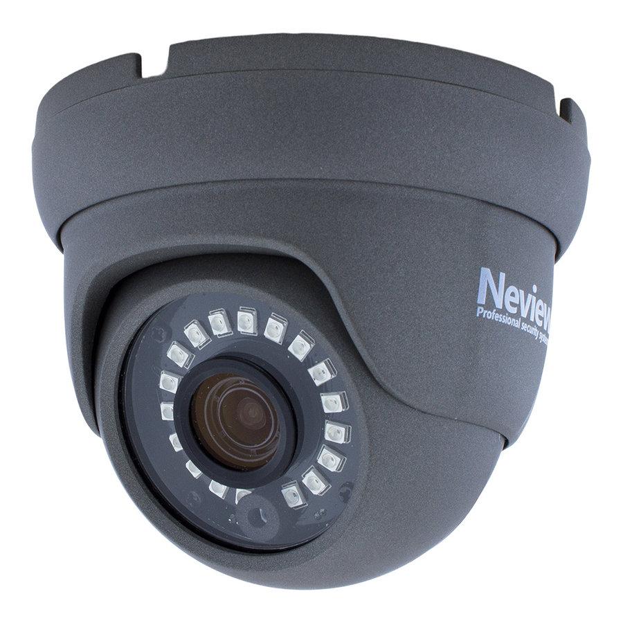 CHD-S03-4KD5-G - Set met recorder en  3x CHD-4KD5 grijze IP camera
