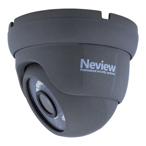 Neview CHD-S08-4KD5-G - Set met recorder en  8x CHD-4KD5 grijze IP camera