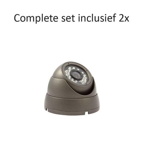 CC-CS02DC1 - 4 kanaals CVR inclusief 2 CC-DC1 camera's