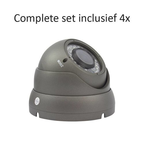 CC-CS04DC2 - 4 kanaals CVR inclusief 4 CC-DC2 camera's