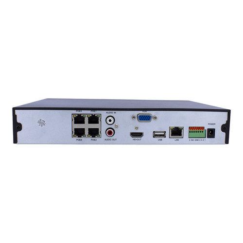 Neview CHD-4K-NVR04-P - NVR voor 4 x 4K UHD IP camera's | 4 x PoE
