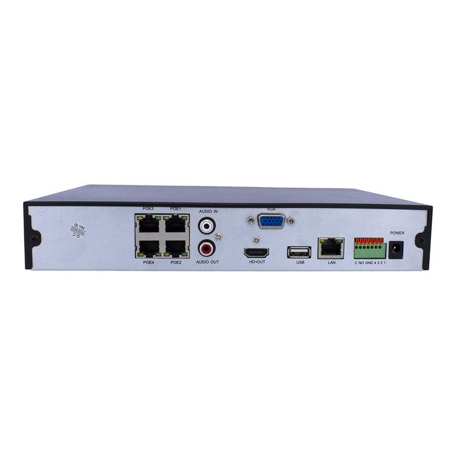 CHD-4K-NVR04-P - NVR voor 4 x 4K UHD IP camera's | 4 x PoE
