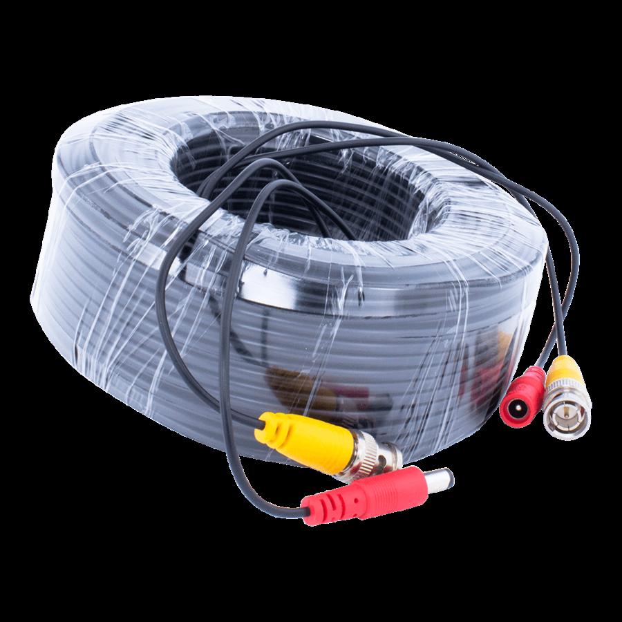 CW-K40 - 40 meter kabel met BNC en 12 volt stekkers