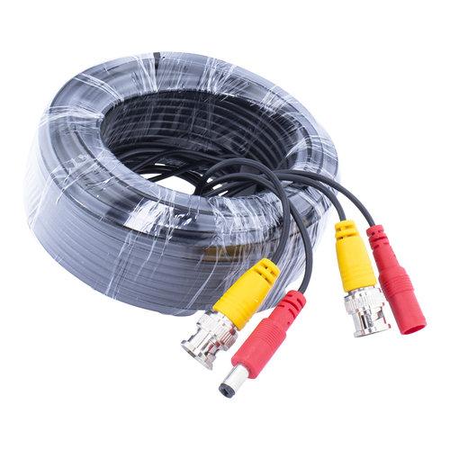 Neview CW-K18 - 18 meter kabel met BNC en 12 volt stekkers