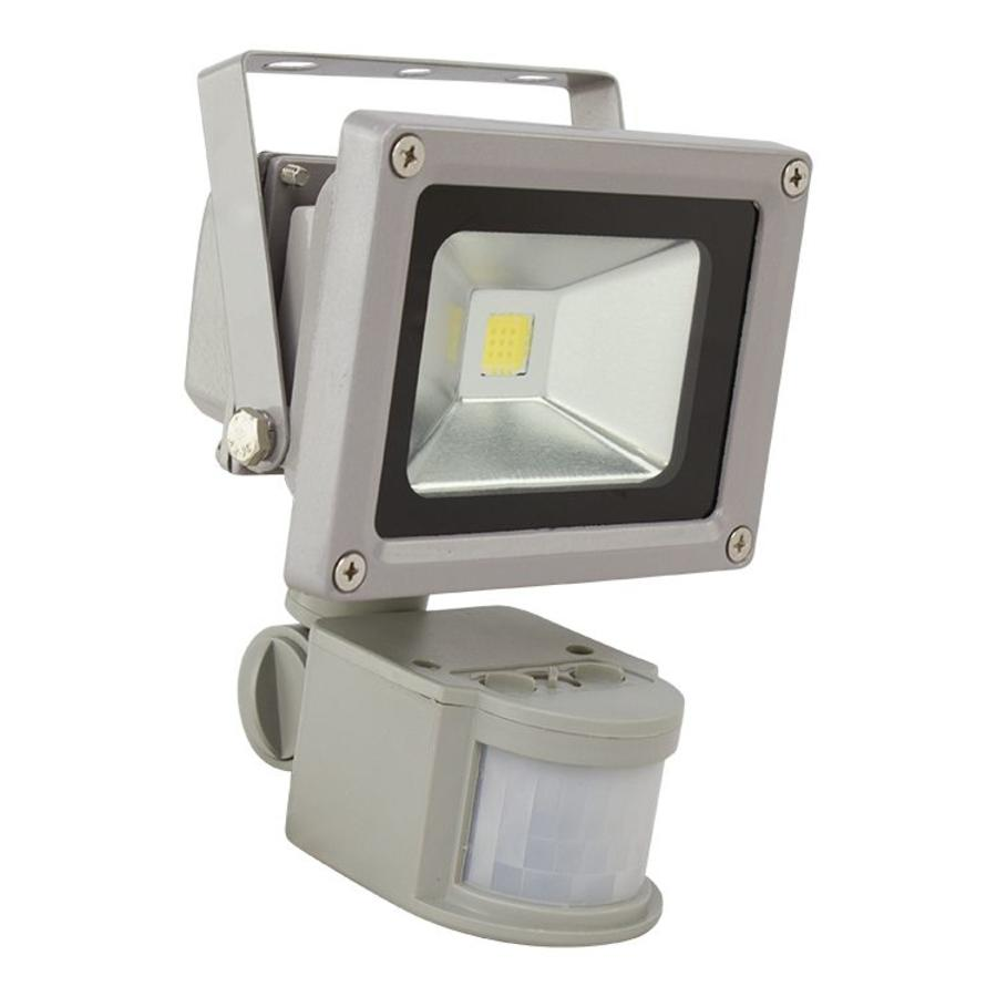 10 watt led bouwlamp met bewegingsmelder