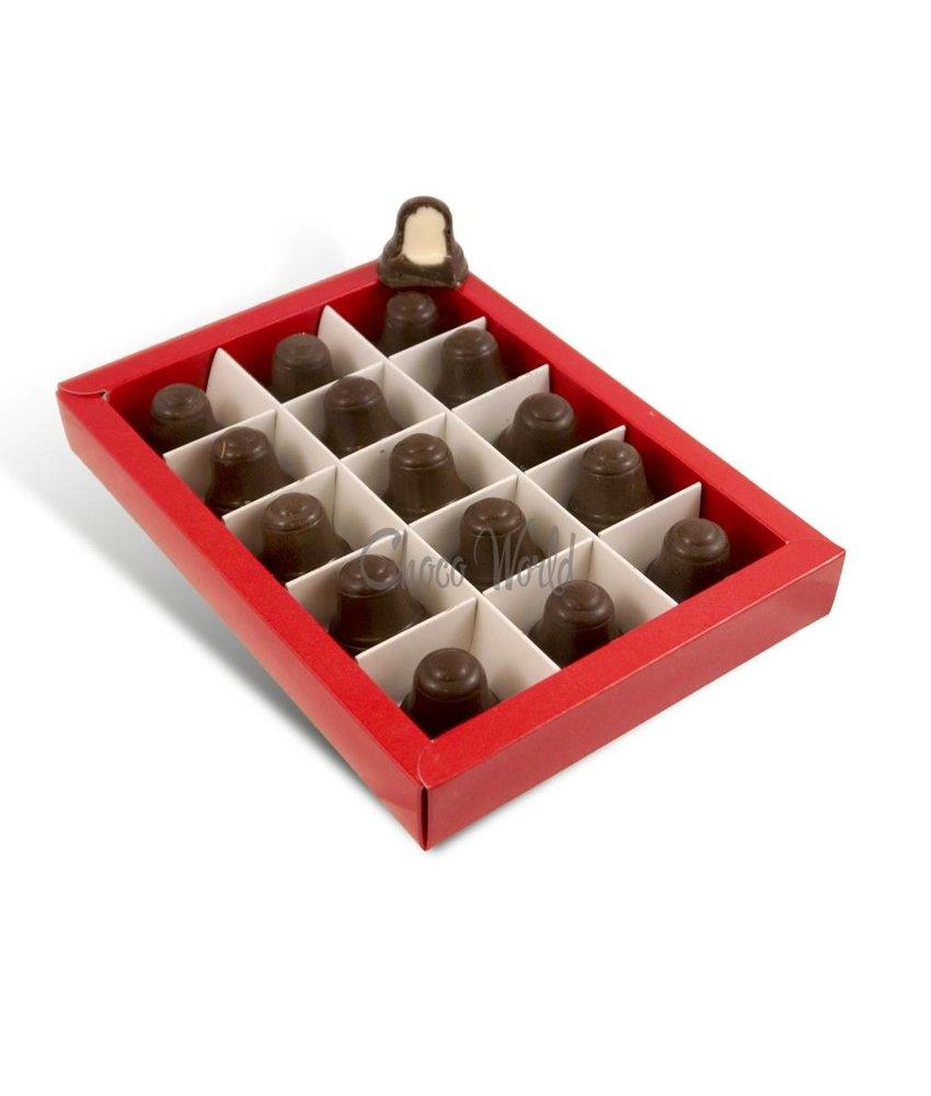 Chocolaterie Vink Kerstklokjes Puur 15 st. Champagne Vulling
