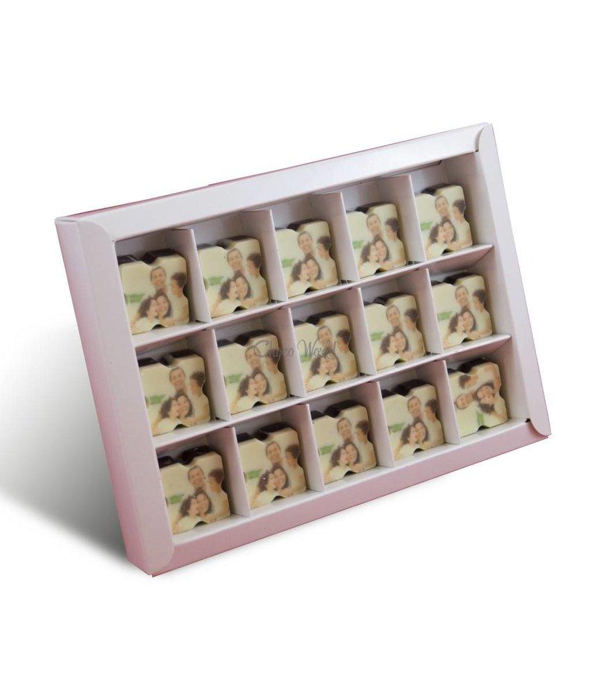 Chocolaterie Vink Bonbons Puur met Foto 15 st.