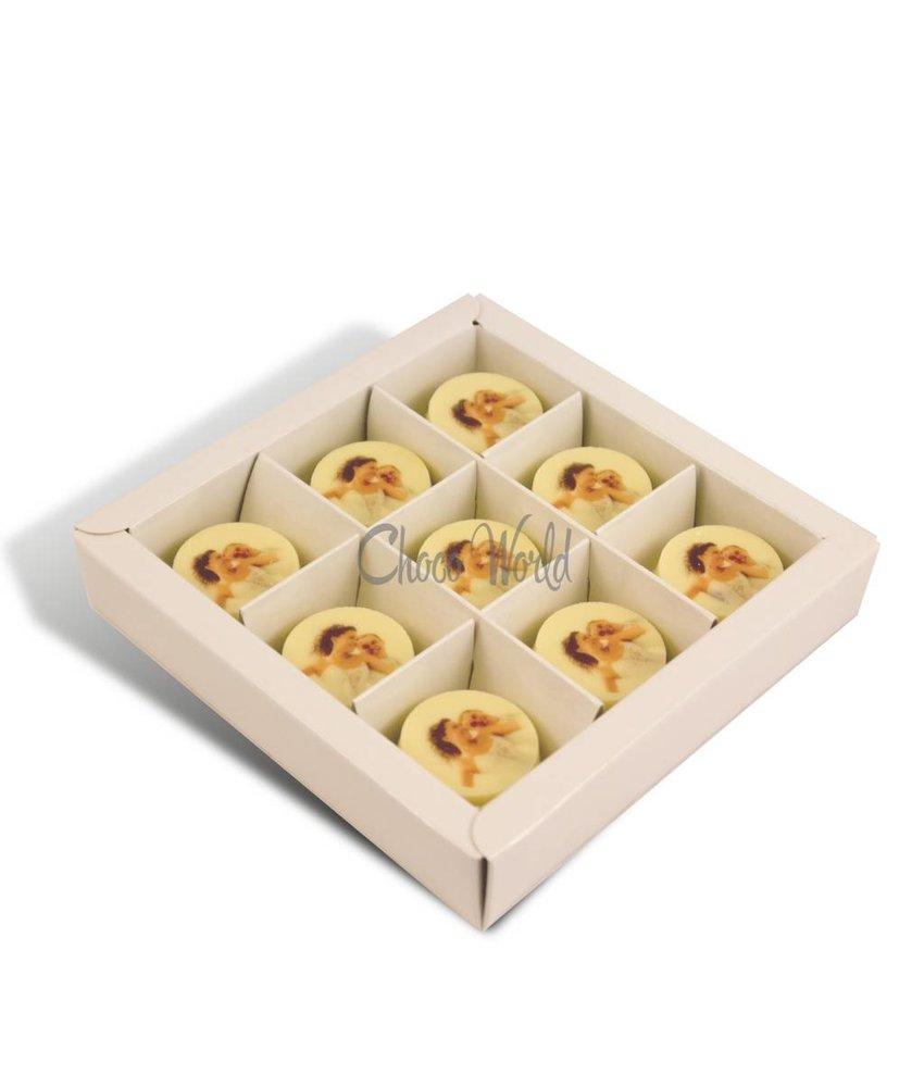 Chocolaterie Vink Huwelijksmunten Wit met Foto