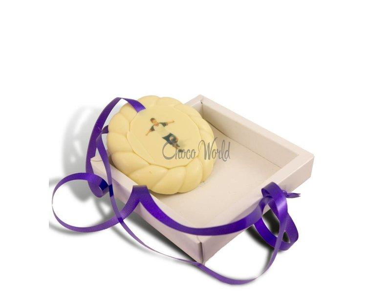 Chocolaterie Vink Examen Medaille Wit met Foto