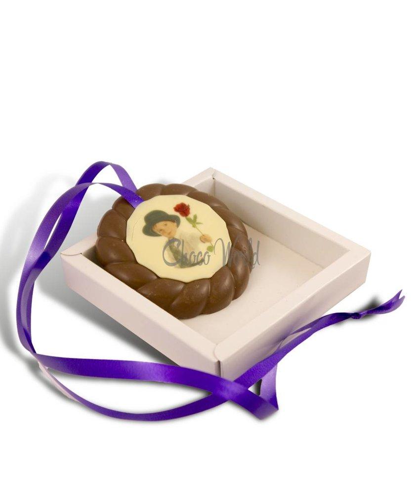 Chocolaterie Vink Examen Medaille Melk met Foto